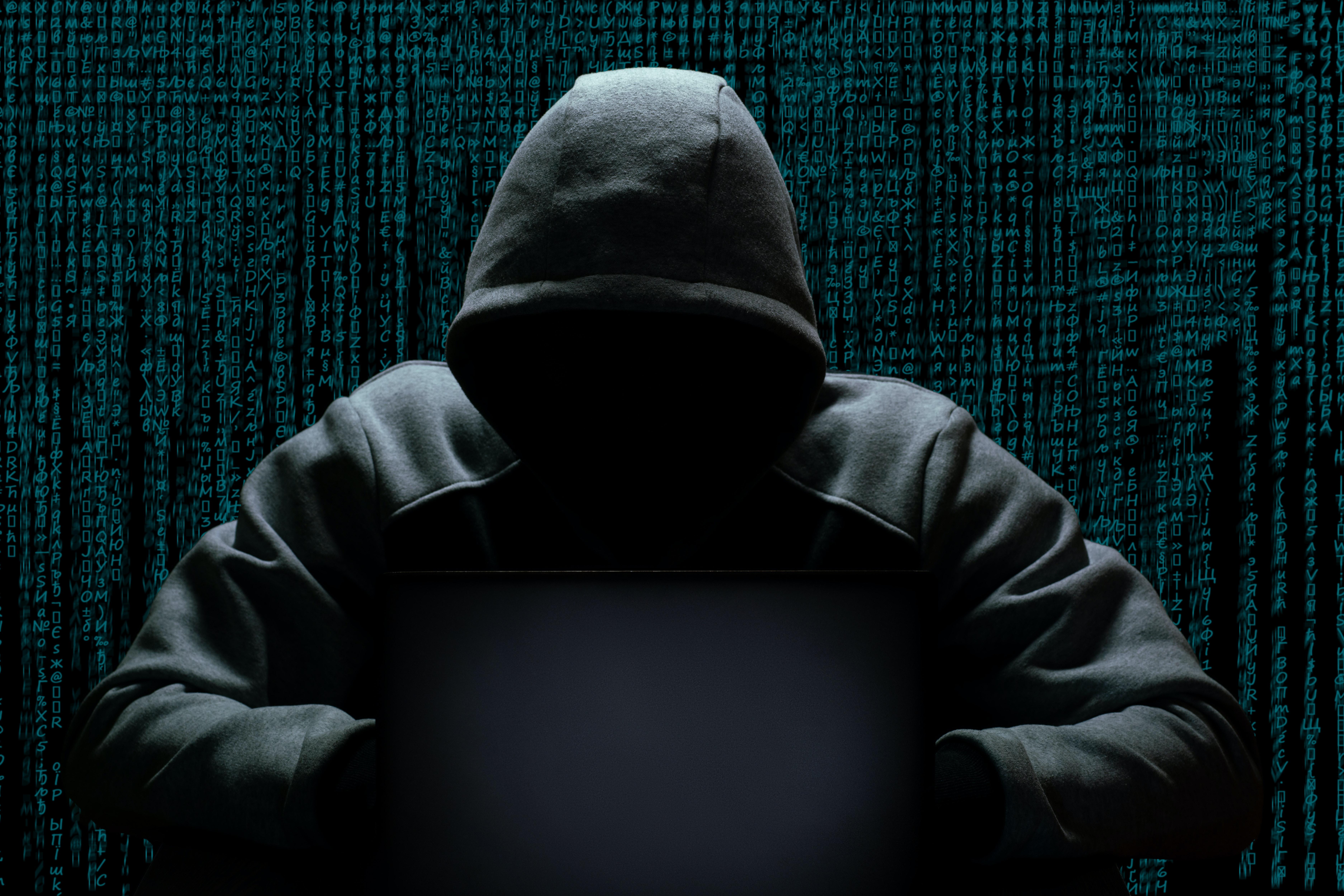 A hooded hacker