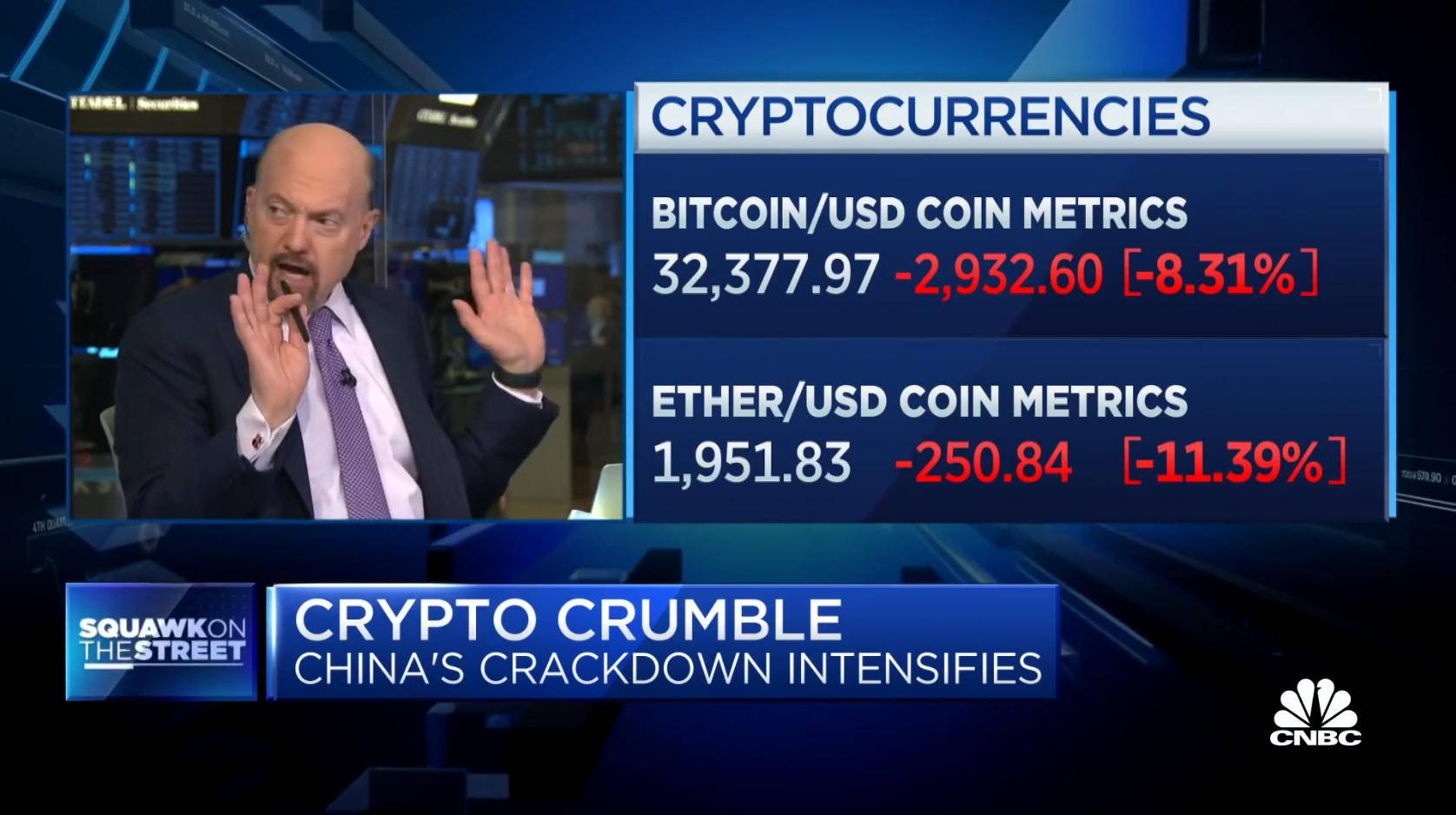 jim cramer is begging his audience to sell cryptos