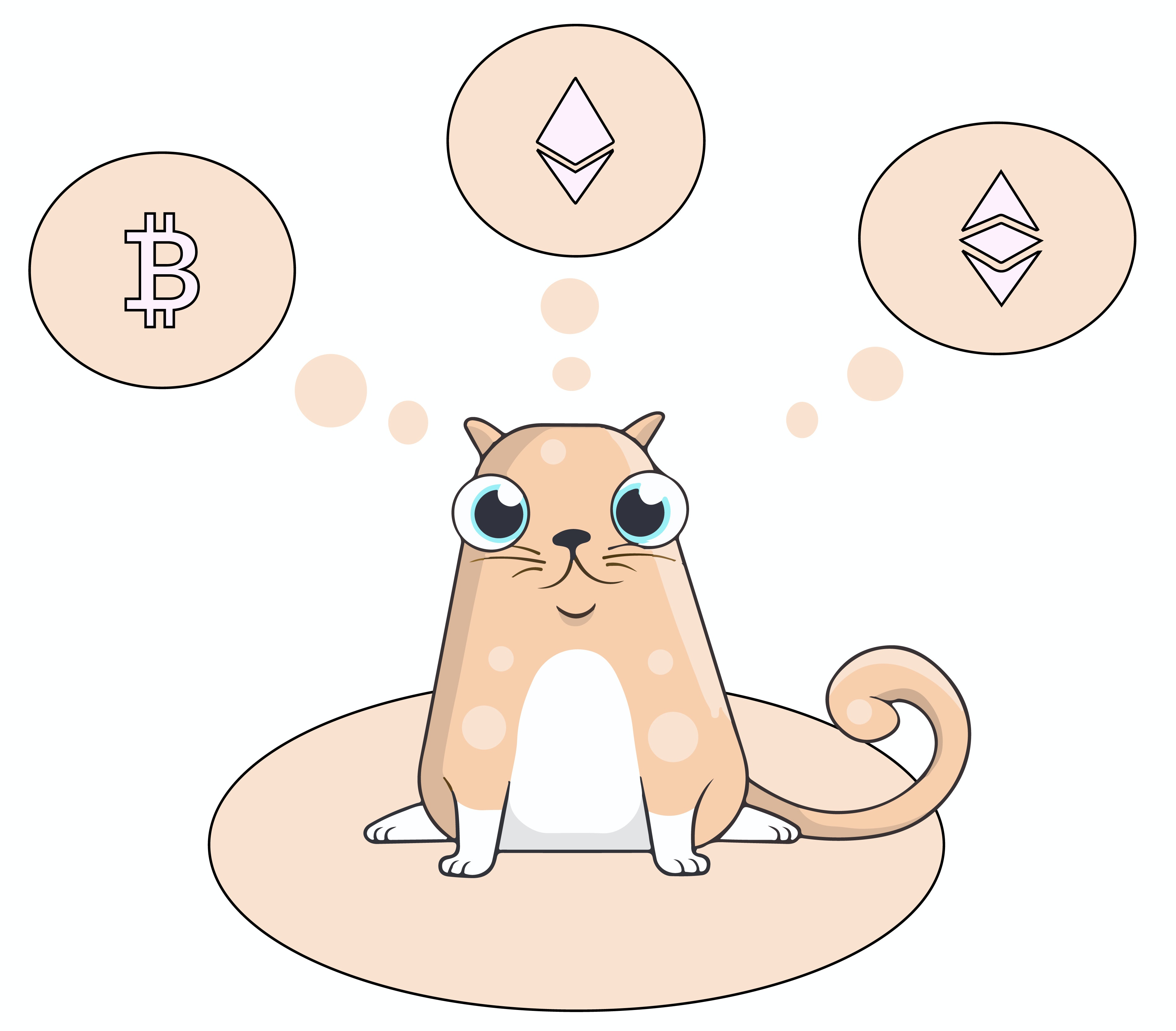 A picture of a CryptoKitty